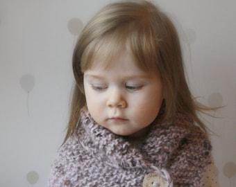 KNITTING PATTERN scarf shawl Wrap Wendy (toddler, child, adult sizes)