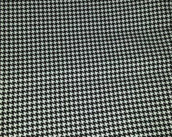 Fabric Hounds Tooth Black and White