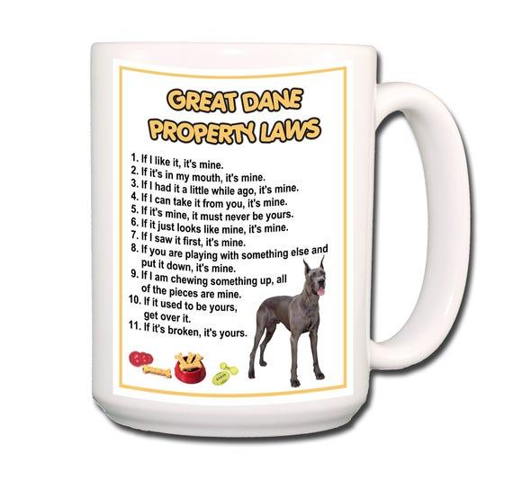 Great Dane Property Laws 15 oz Extra Large Coffee Mug No 1