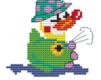 Cross Stitch Kit 'Clown Duck' Cross Stitch Pattern - Duck
