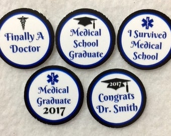 ANY YEAR Set of 50/100/150/200 Doctor Medical School Graduation 1 Inch Confetti Circles
