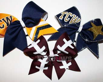 AWESOME Custom Three piece Cheerleading Cheer Bow Set by Funbows !!!