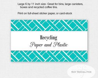 Aqua Pantry Labels | Organizing Labels | Editable Labels | Tags | Editable PDF | Instant Download