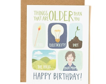 Things That Are Older Than You Illustrated Card // 1canoe2