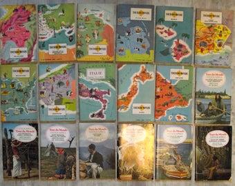 Job lot 73 antique french magazine around the world Tour du Monde Geographia lot photos