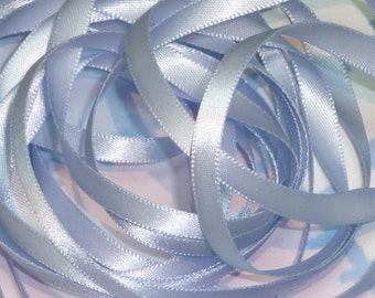 BLUEBELL DouBLe FaCeD SaTiN RiBBoN, Polyester 1/4 inch wide, 5 Yards