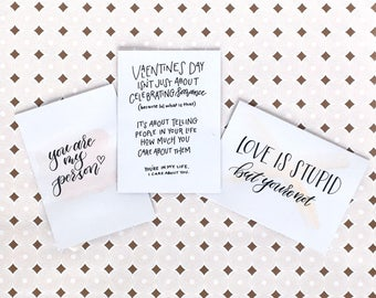 Handlettered Valentine's Day Card Variety Pack