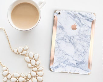 Marble Makrana with Rose Gold Detailing Vinyl Skin Decal for the iPad Air 2, iPad mini 4 , iPad Pro - Platinum Edition