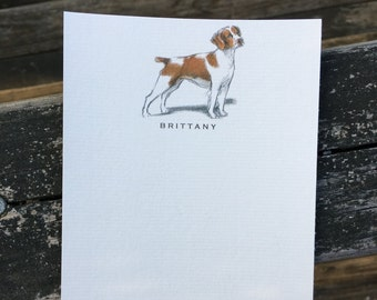 Brittany Dog Note Card Set