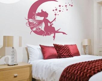Moon Fairy - Vinyl Wall Decal