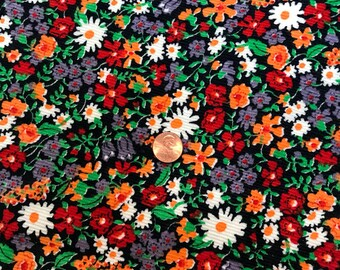 Corduroy Floral Fabric/ 44 inches wide/ Prewashed