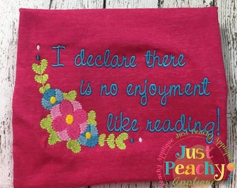 Reading Machine Embroidery Design