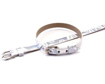 Faux white Floral Design silver bracelet
