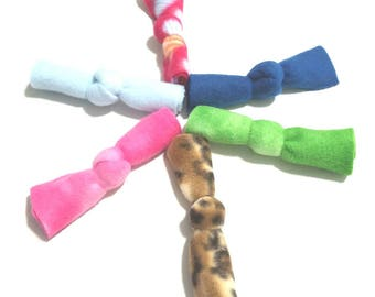 Catnip Fleece Knot Bows 6 Pack