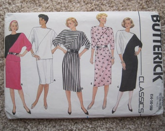 UNCUT Misses Dress, Top and Skirt - Size 14 to 18 - Butterick Sewing Pattern 3460 - Vintage 1985