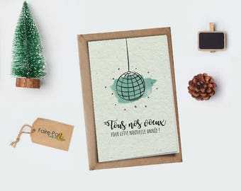 Christmas card / greeting card disco ball