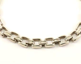 Vintage Bayanihan Designer Modernist Design Necklace 925 Sterling Silver NC 283