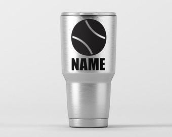 Tennis Ball (Personalization Available) / Yeti Decal / Vinyl Decal / Yeti Tumbler Decal / Yeti Cup Decal / RTIC / *Tumbler Available *