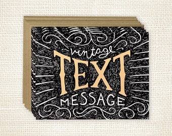 Boxed Card Set of 8 - Vintage Text Message