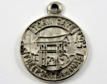 Torii Gate Freeport Bahamas Sterling Silver Charm or Pendant.