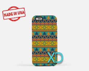 Tribal Phone Case, Tribal iPhone Case, Hippie iPhone 7 Case, Blue, HIppie iPhone 8 Case, Tribal Tough Case, Clear Case, Bohemian, Triangle