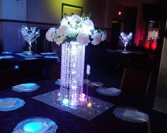 Chandelier / wedding center piece for table/tabletop chandelier/crystal chandelier drop /cascading cake stand/Wedding Centerpiece