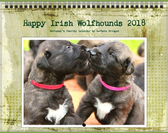 Calendar 2018 Happy Irish Wolfhounds