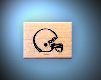 Football Helmet mounted rubber stamp masculine, gridiron, American sports, men, Sweet Grass Stamps No.14