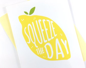 Graduation Card, Motivational Card, Yellow Lemon Card, Get Well Card, New Job Card, Greeting Card, Encouragement Card, Blank Card for Friend