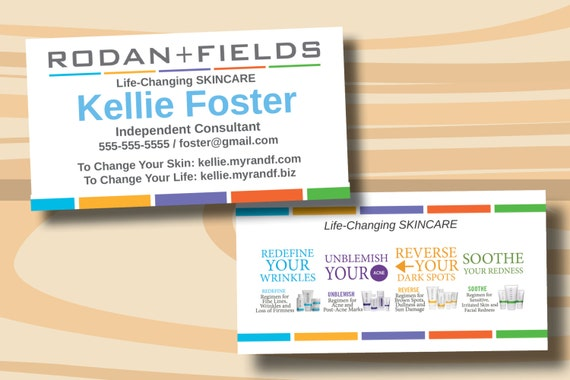 Rodan fields business cards two sided business card printed rodan fields business cards two sided business card printed cards only colourmoves Image collections