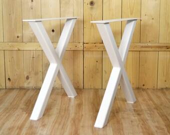 Pair of X Legs, Steel Table Legs