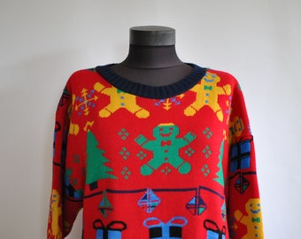 Vintage OVERSIZE  women's sweater , fashion sweater....(060)