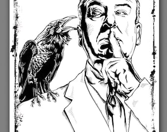 Alfred Hitchcock Master of Suspense Film Art Print Poster 8 x 10, 12 x 18