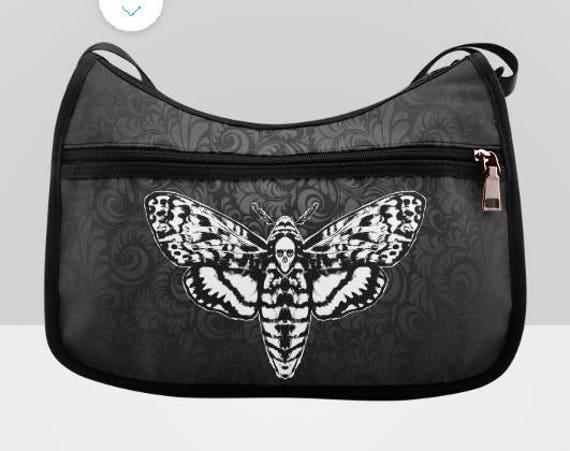 Death Head Moth Hobo Bag