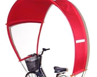 Bulle de protection rouge pour votre vélo