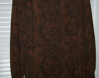 Dress 6, Riding Dress, Downton Abbey, Vintage Brooks Brothers Edwardian Riding Dress Paisley Challis Downton Abby  Dress 6