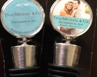 Wedding Favors, Personalized, wine bottle stopper, Quantity 35