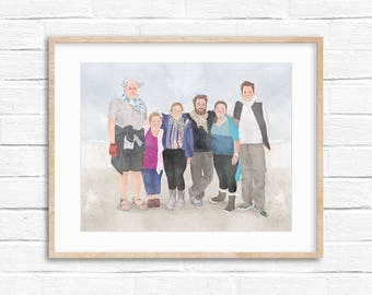 Custom family portrait | personalized family portrait | personalized gift |