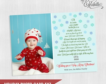 Let It Snow Holiday Photo Card 5x7 - You Print Christmas Card