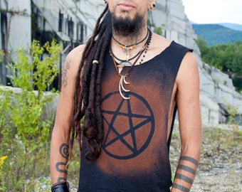 Post Apocalyptic Destroyed Men's Pentagram Pentacle Shirt Tank