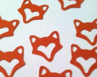Fox Confetti, Woodland Fox Party Decor, Baby Fox Table Sprinkles, Birthday, Shower, Celebration, Silver Fox