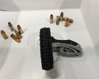 Bullet bracelet Outdoors man,survival,tactical paracord bracelet.