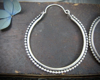 fusion ... sterling silver hoops