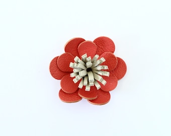 Barrette / clip in coral