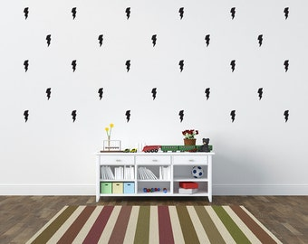 Lightening Bolt Wall Sticker , Wall Decal