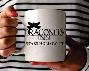 Custom Gilmore Girls Mug, Gilmore Girls Mug, Custom Dragonfly Inn Mug, Dragonfly Inn Mug, Custom Gilmore Girls Gift, Gilmore Girls Fan