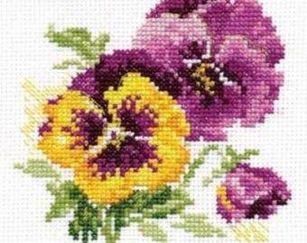 Cross Stitch Kit beginner / children / flower