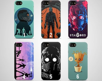 Guardians of the galaxy phone case iphone case 8 plus 7 X 6 6s 5 5s se samsung case s8 s7 edge s6 s5 s9 note 4 gift poster art print marvel