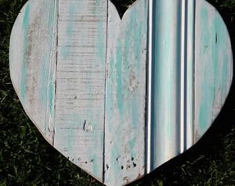 large reclaimed wood heart wooden beach sign beach heart like driftwood heart