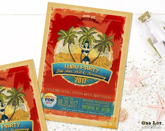 Summer Fun Invitations Template Beach Party Pool Party Printable DIY Event Invitation Beach Luau Birthday Invite Teen Party Invites
